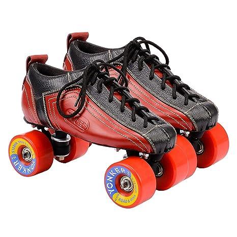 4ef44c3e61f3e4 Buy Yonker Shoe Skate Racer Quad Roller Skates (Free Skates Bag) (Adult-4)  Online at Low Prices in India - Amazon.in