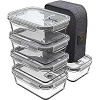 GENICOOK Lunchbox Bento broodtrommel met lunchtas, vershouddozen, glas, perfect voor meal prep, BPA-vrij en LFGB…