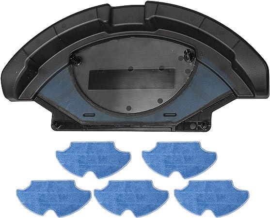 TeKeHom Accesorio friega Suelos con mopa de Microfibra. Robot Aspirador Compatible: Conga, Conga Slim y Conga Slim 890. Friega el Suelo y Pasa la mopa # 1 Tanque de Agua + 5