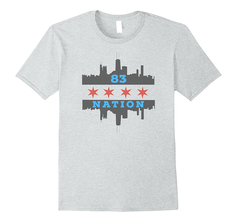 Mens 83 NATION Chicago Flag 670 Sports Radio T Shirt-BN