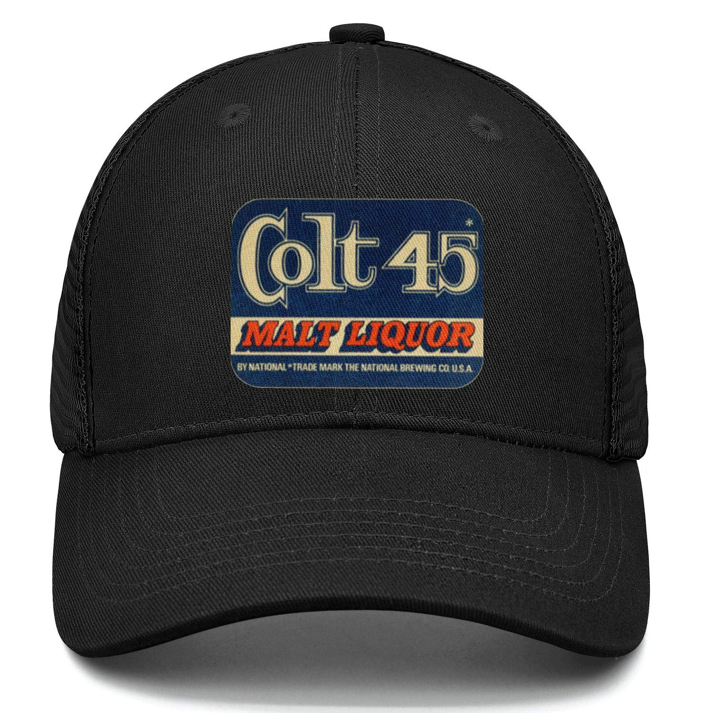 Unisex Colt 45 Malt Liquor Beer Hat Adjustable Fitted Dad Baseball Cap Trucker Hat Cowboy Hat