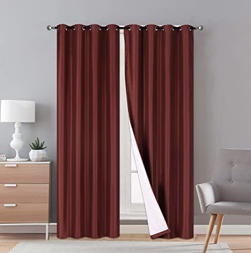 LinenTopia Faux Silk Blackout Curtains