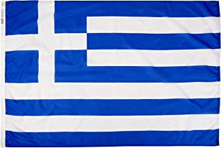 product image for Annin Flagmakers Model 193011 Greece Flag Nylon SolarGuard NYL-Glo, 4x6 ft, 100% Made in USA to Official United Nations Design Specifications