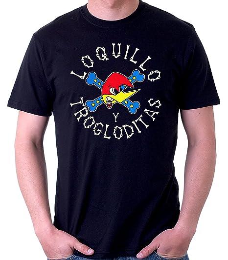 35mm - Camiseta Hombre - Loquillo Y Los Trogloditas - T-Shirt, NEGRA, XXL: Amazon.es: Ropa y accesorios