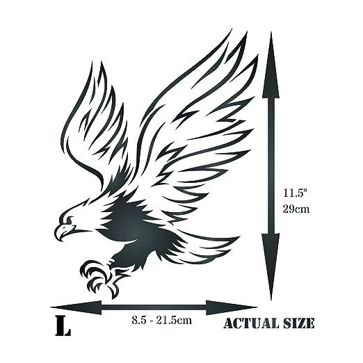 Plantilla de pared con diseño de águila - Plantilla reutilizable de animales de pájaros - Uso en proyectos de papel Scrapbook Bullet Diario paredes suelos ...