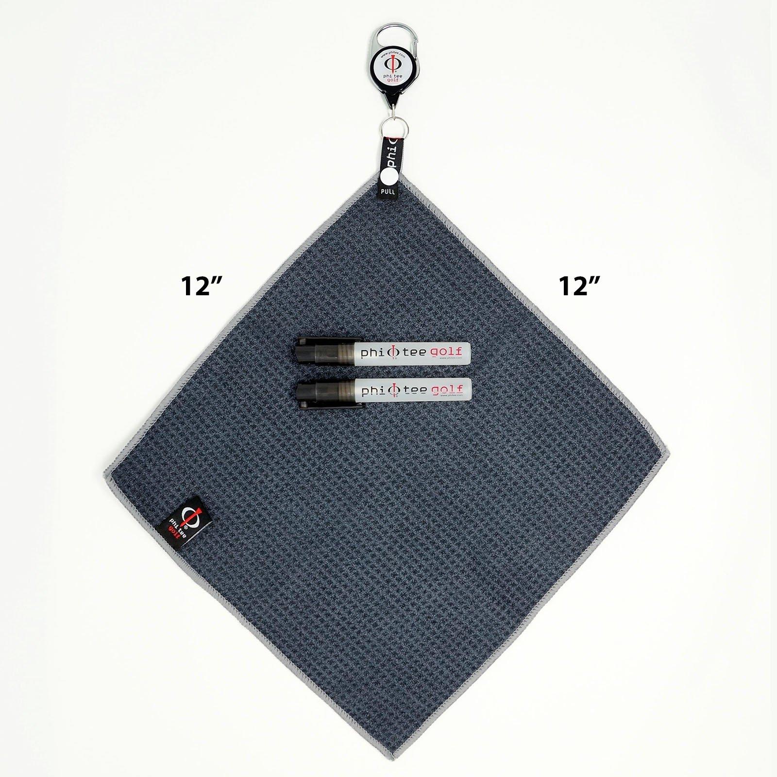 Phi Tee Tail Golf Towel Starter Set (2 Pack)