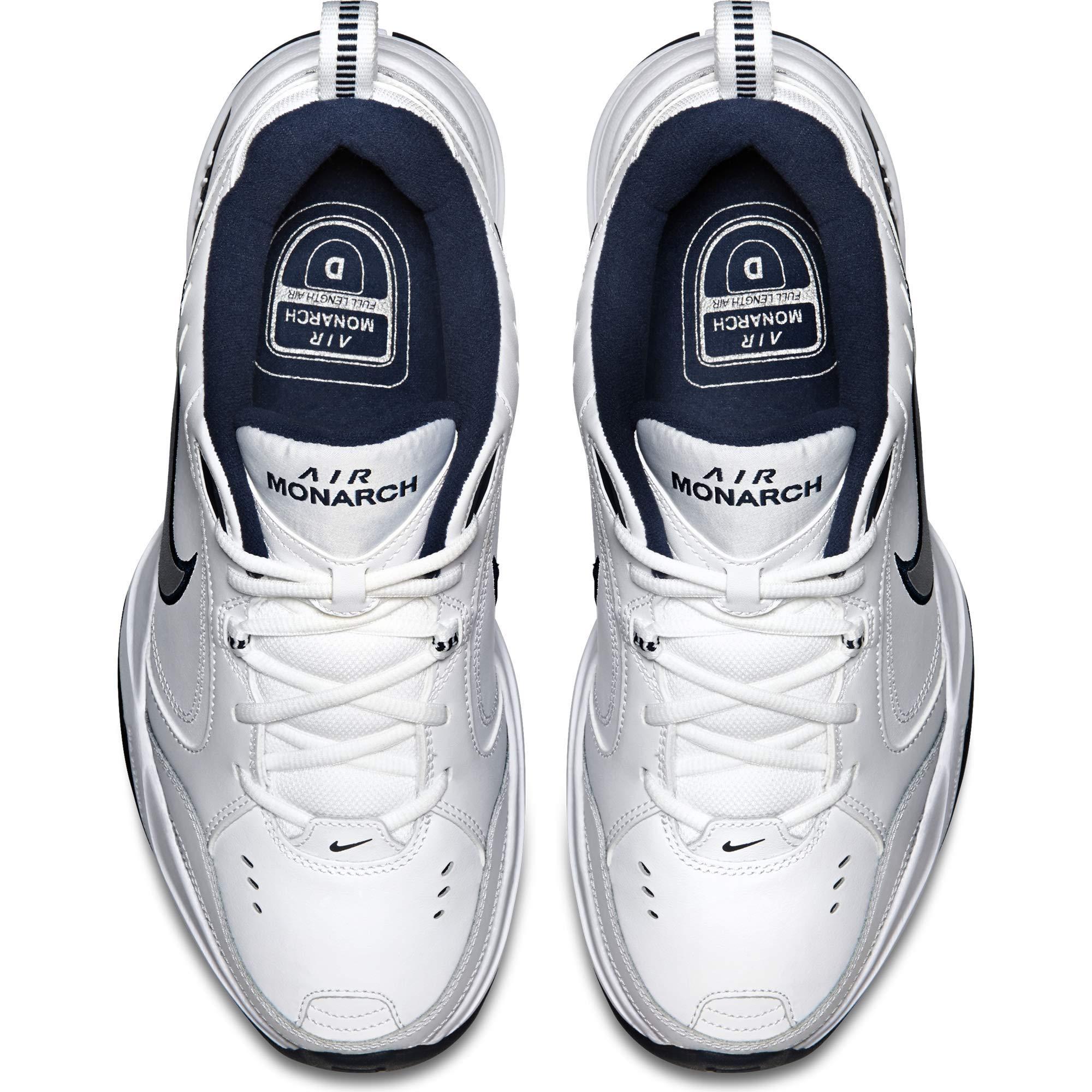 NIKE AIR MONARCH IV (MENS) - 6.5 White/Metallic Silver by Nike (Image #10)