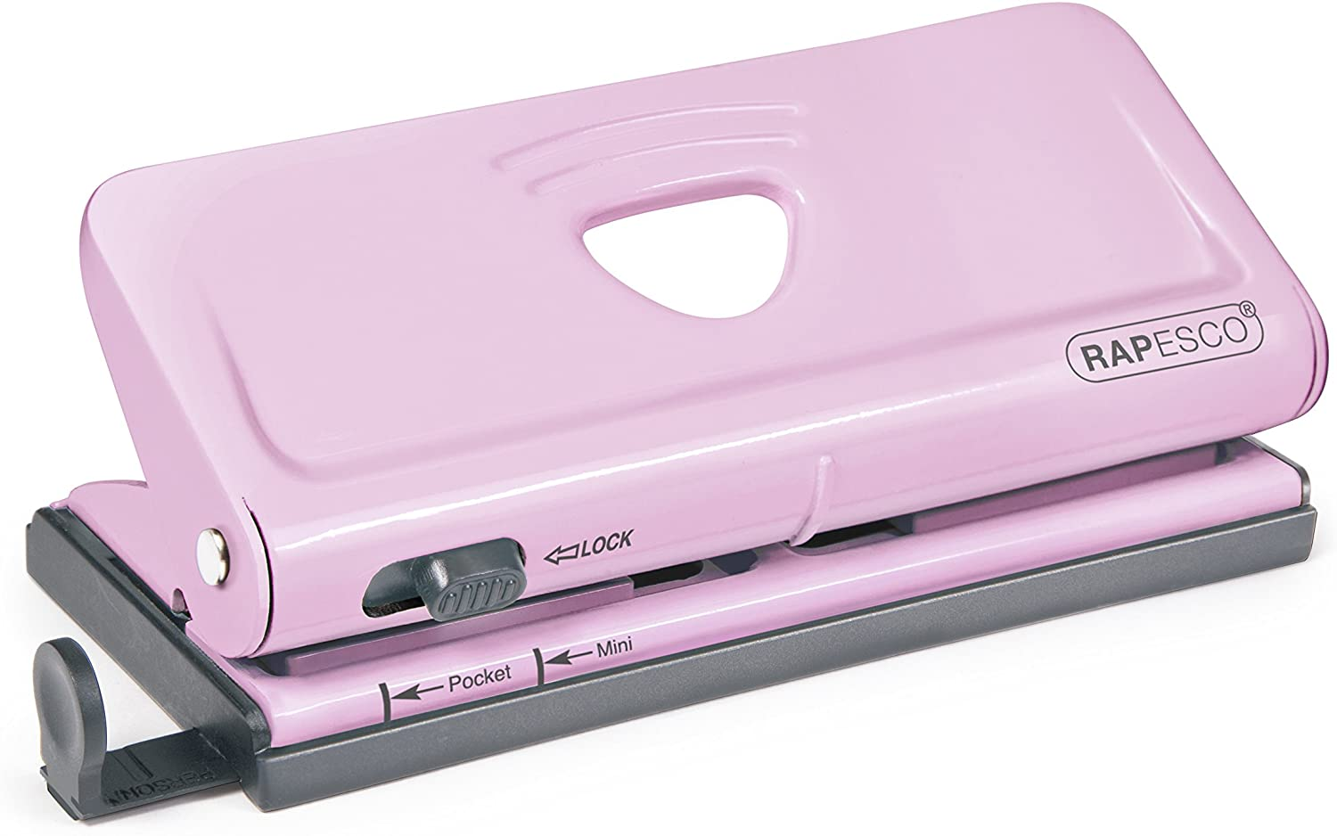Pink Rapesco Adjustable 6-Hole punch for Planners and 6-Ring Binders
