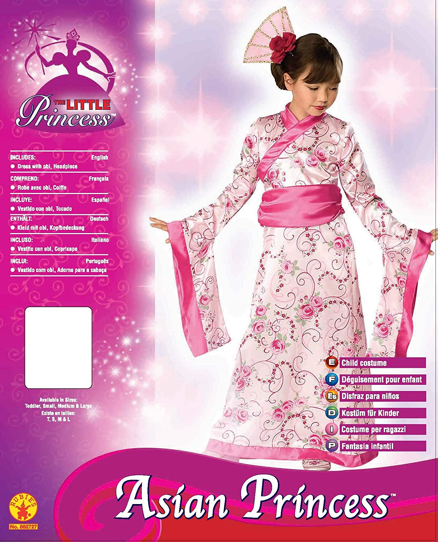 Lets Pretend Childs Asian Princess Pink Kimono Costume Rubies Costume Co size 12-14 Large