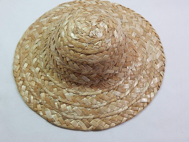 Dollhouse Miniature Summer Rose Straw Hat
