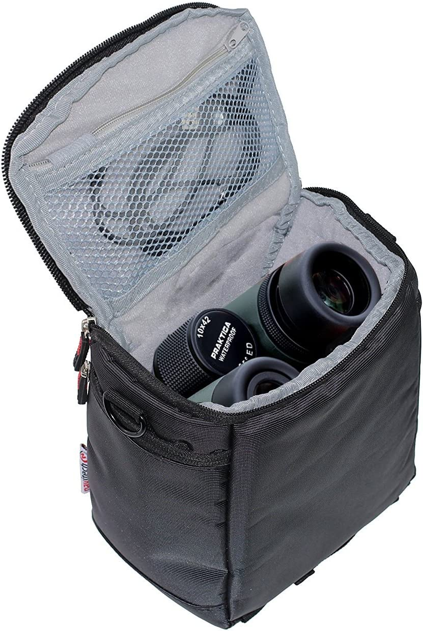Navitech Purple Protective Portable Handheld Binocular Case and Travel Bag Compatible with The Braun Premium 8 56 WP-ED