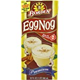 Borden Egg Nog, Shelf Stable, 32-Ounce (Pack of 6)
