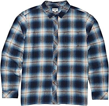 Billabong Mens Coastline Long Sleeve Flannel Shirt Blue X-Large: Amazon.es: Ropa y accesorios