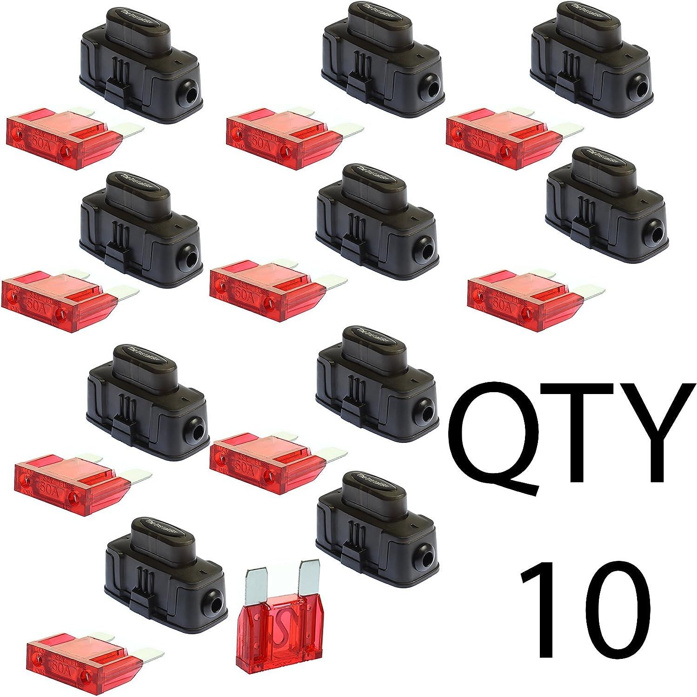 1 MAXI Inline Fuse Holder Fuseholder Install Bay 4 6 8 Gauge 1 40 Amp