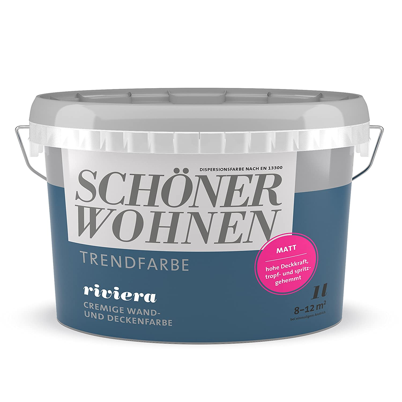 Schö ner Wohnen Trendfarben Riviera 2, 5 l matt - Touch Protect-Ausstattung Brillux