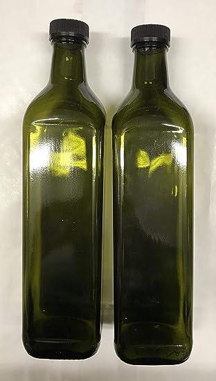 Marasca - 12 botellas de vidrio oscuro UVAG para aceite o ...