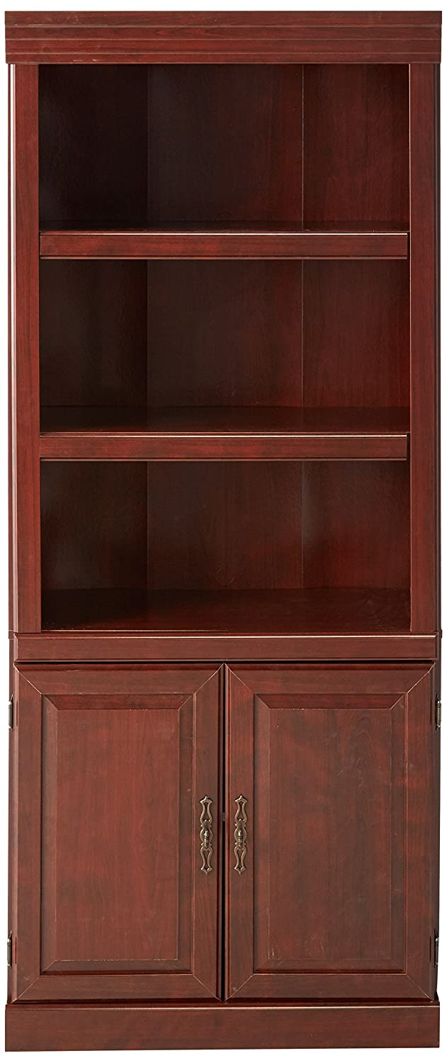 classic hill bookcase shelf cherry library sauder ip finish the shop bookcases heritage collection