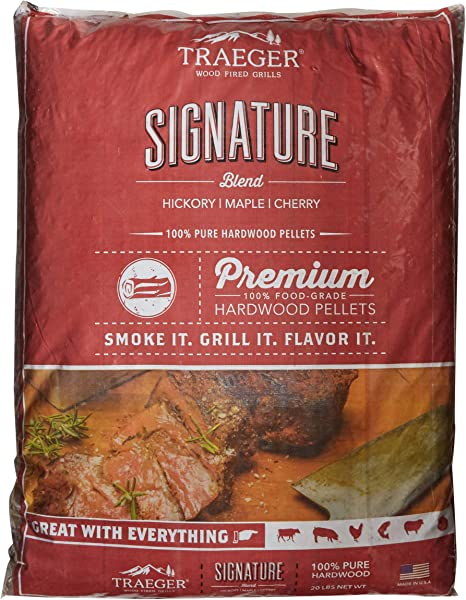 Traeger Pecan Hardwood Pellets Grill Barbecue Smoker Real Natural Wood Fuel 20lb