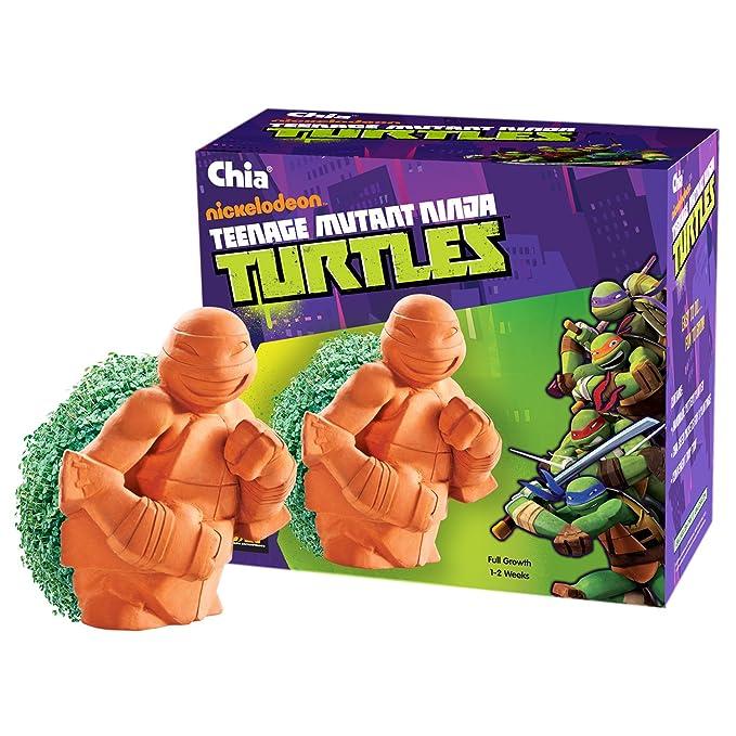 Amazon.com: Macetero de las tortugas Ninja de Chia: Jardín y ...
