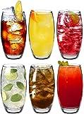Argon Tableware, Bicchieri Tondo, di Tipo Highball, per Acqua/Succhi, da 510 ml - Confezione Regalo da 6