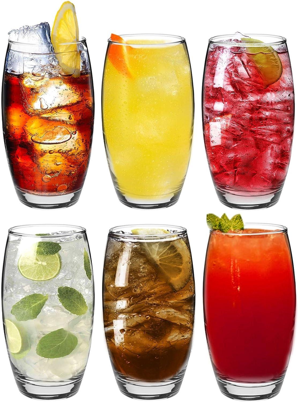 Argon Tableware Tondo Water/Juice Hiball Glasses - Gift Box Of 6 Glasses - 510ml (18oz)