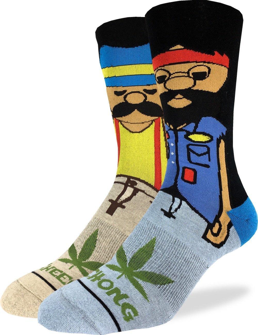 Good Luck Sock Men's Cheech & Chong Crew Socks – Shoe Size 8-13