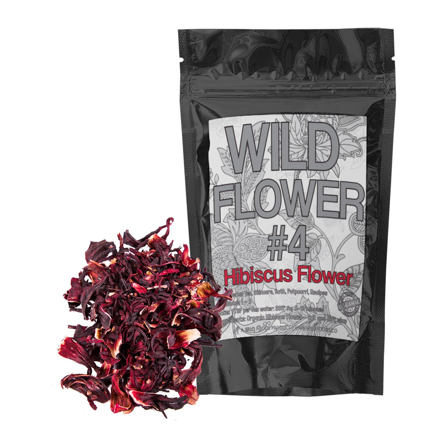 Best dried hibiscus flowers for tea amazon dried whole hibiscus flowers organically grown perfect for homemade tea blends potpourri bath salts gifts crafts wild flower 4 4 ounce izmirmasajfo