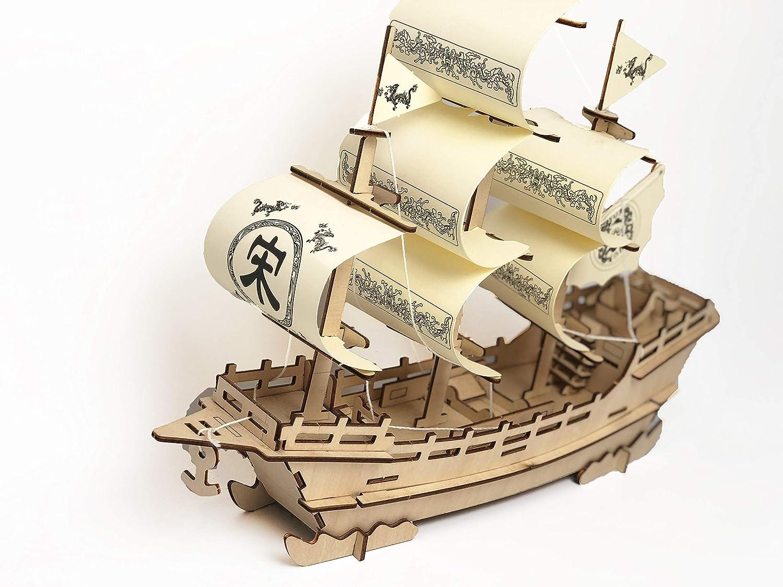 再再販! Onlybest Merchant Merchant Ship, Ship, Wooden DIY Creative 車, 3D Puzzle, Creative Gifts、手組み立て玩具 B07FF1BC5H, 黒毛和牛専門店 プレミアムギフト:b01f7f27 --- a0267596.xsph.ru