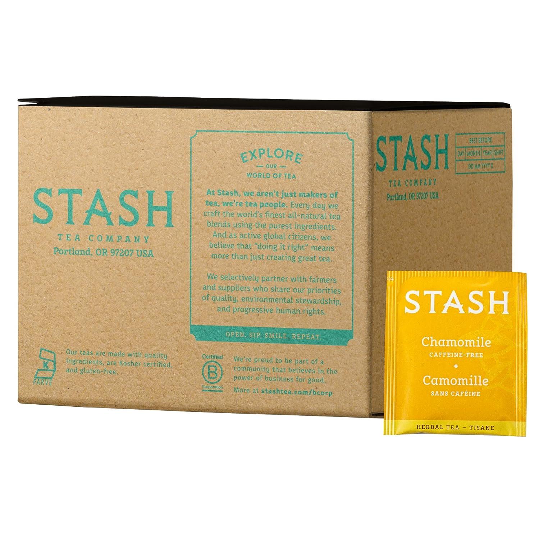 Stash Tea Chamomile Herbal Tea 100 Count Box of Tea Bags