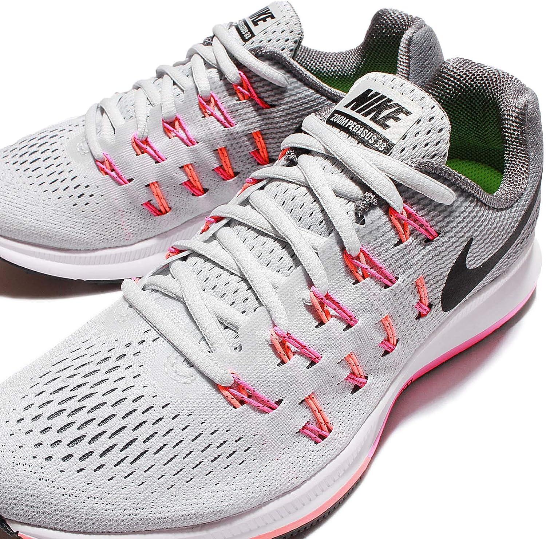 Nike Wmns Air Zoom Pegasus 33, Zapatillas de Running para Mujer, Plateado (Pr Pltnm/Blk-Cl Gry-Pnk Blst), 42.5 EU: Amazon.es: Zapatos y complementos