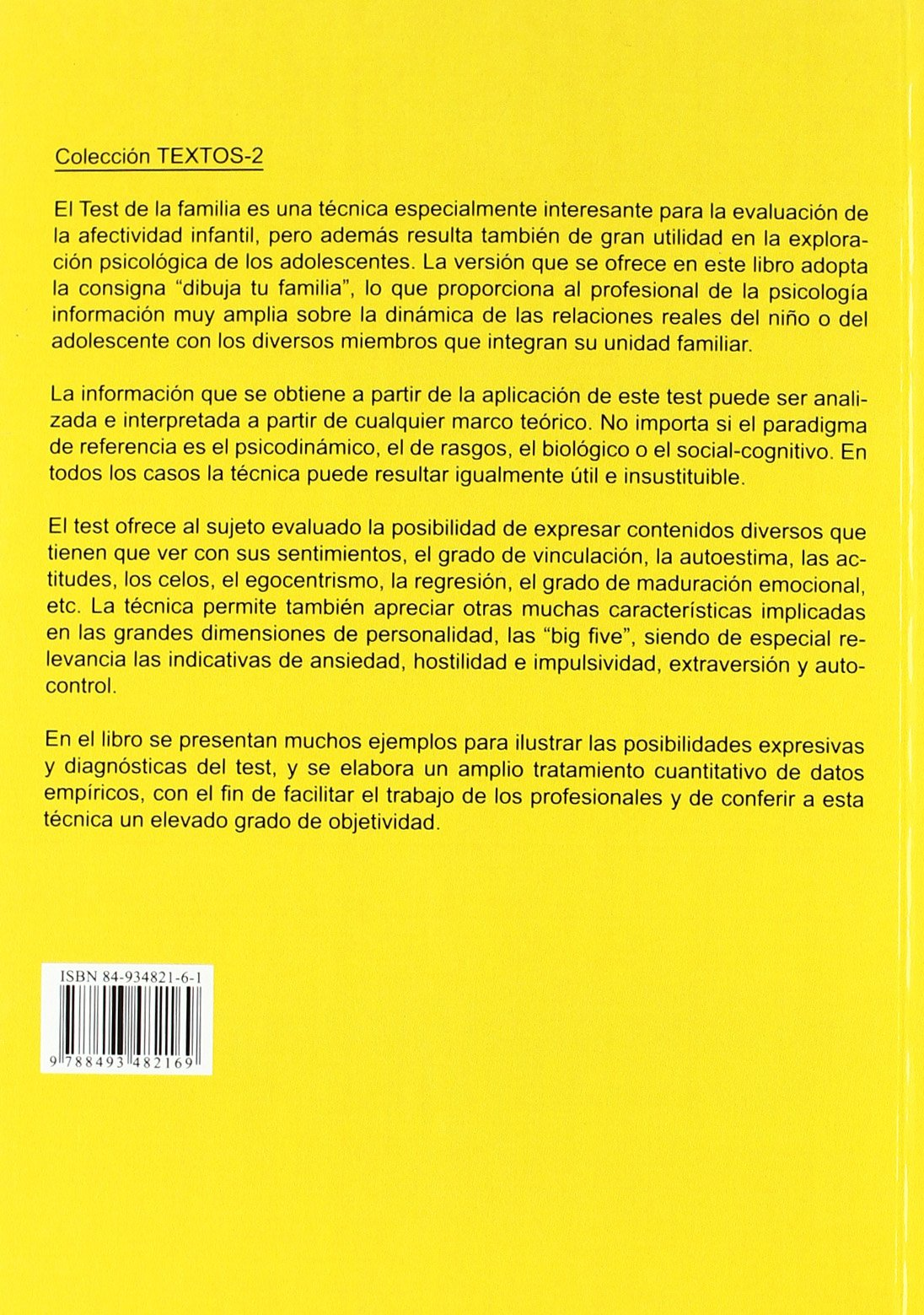 Test de la Familia (Spanish Edition): Josep Mª Lluís-Font: 9788493482169: Amazon.com: Books