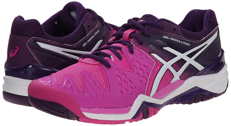ASICS Gel Tennis Resolution 6 WIDE Women's Tennis Gel Shoe White/Silver - WIDE version B00Q2JTXTC 11 B(M) US|Hot Pink/White/Purple a079c2
