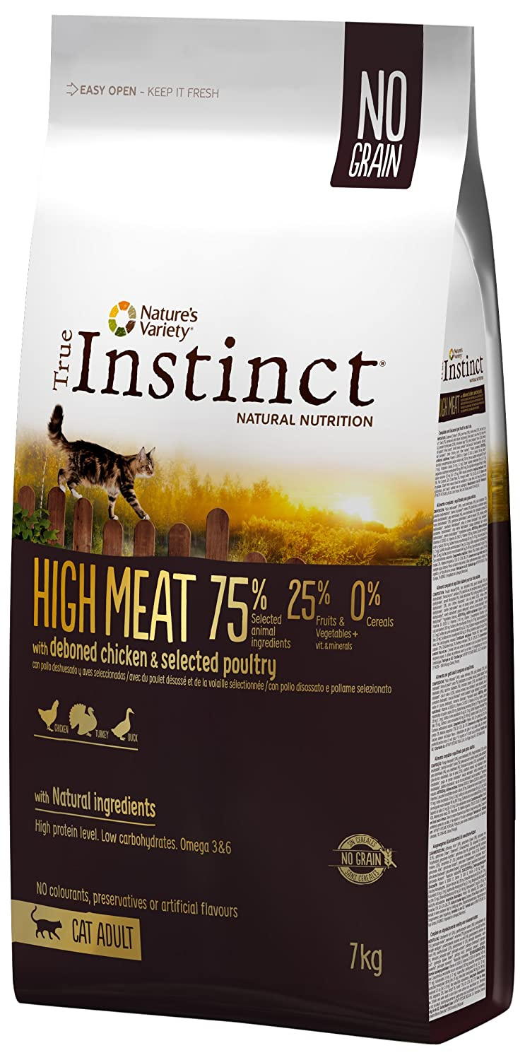Instinct True pienso para Gatos High Meat Pollo: Amazon.es: Productos para mascotas