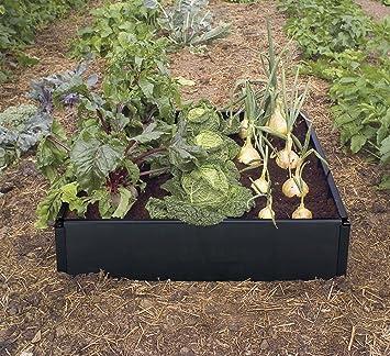 Garland Cama de Cultivo para Verduras, Negro, 98x25x25 cm: Amazon ...