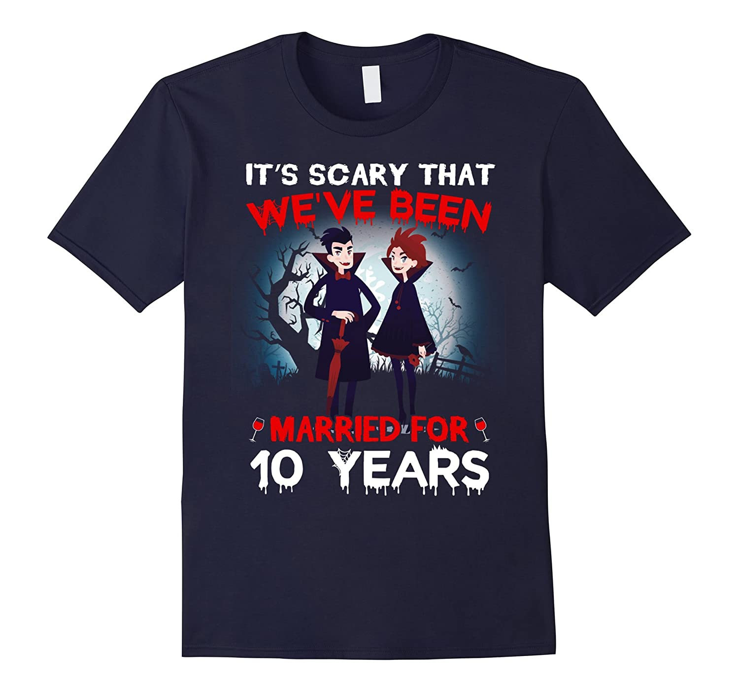 10th Anniversary Shirt Funny Halloween Costume For Couples-T-Shirt