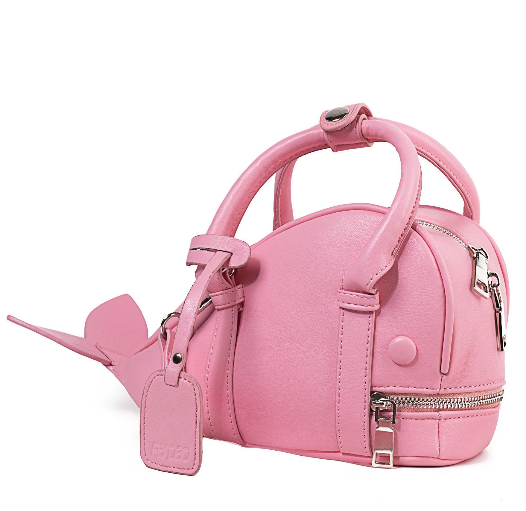 Mini Pink Whale Handbag for Little Preschool Girls Age 5 to 9 Years Old - A Cute Animal Messenger Crossbody Purse for Kids