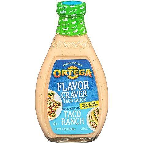 Ortega Flavor Craver Taco Sauce, Taco Ranch, 16 oz