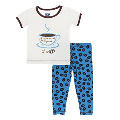 fa83bf33b037 Amazon.com  Kickee Pants Print Short Sleeve Pajama Set in Amazon ...