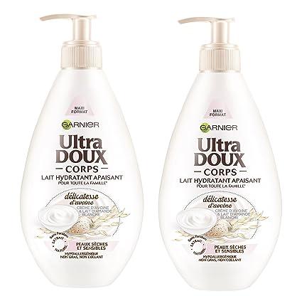 Garnier Ultra Doux avena leche en polvo 400ml de la piel - Conjunto de 2