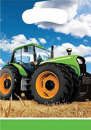 8 Partytuten Traktor Fur Kindergeburtstag Oder Mottoparty