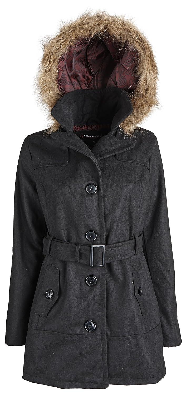 Urban Republic Junior Women Wool Look Classic Winter Jacket with Detachable Hood
