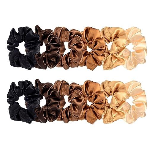Hair Scrunchies Satin Scrunchy Bobbles Lady Ring Elastic Hair Bands Hairband@