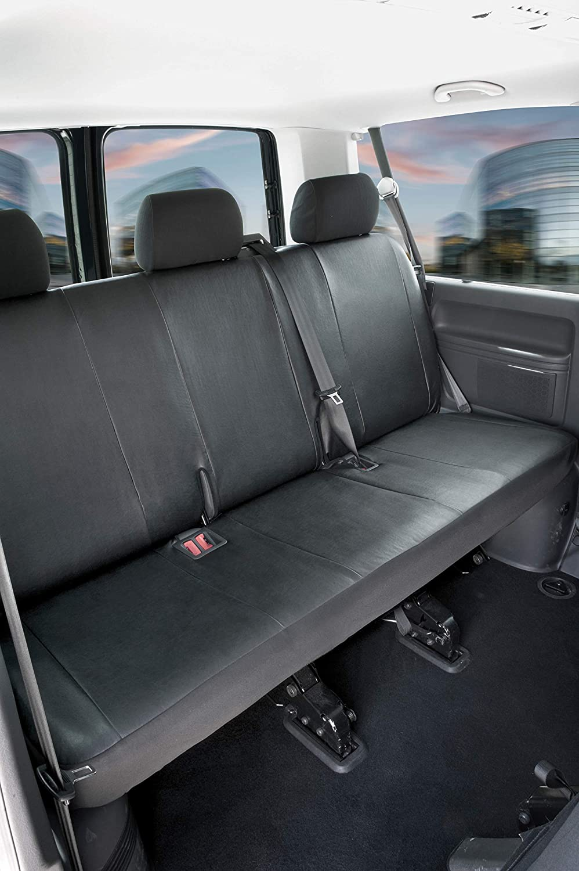 Walser Autoschonbez/üge Transporter Passform Sitzbezug anthrazit kompatibel mit VW T6 Polyester, 3er Bank
