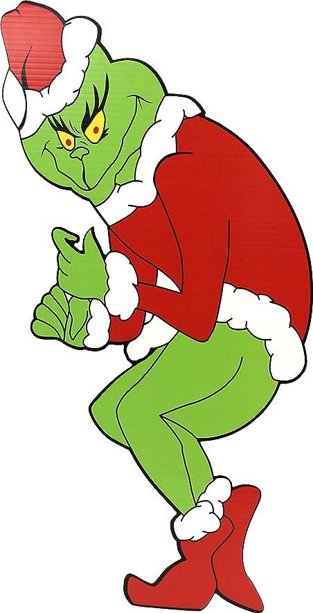 amazoncom grinch stealing christmas lights facing left garden outdoor - Grinch Stealing Christmas Lights