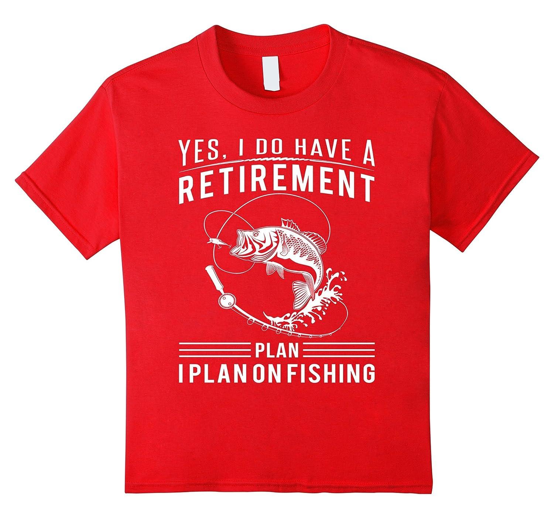 Retirement plan Fishing t shirts Medium-Tovacu