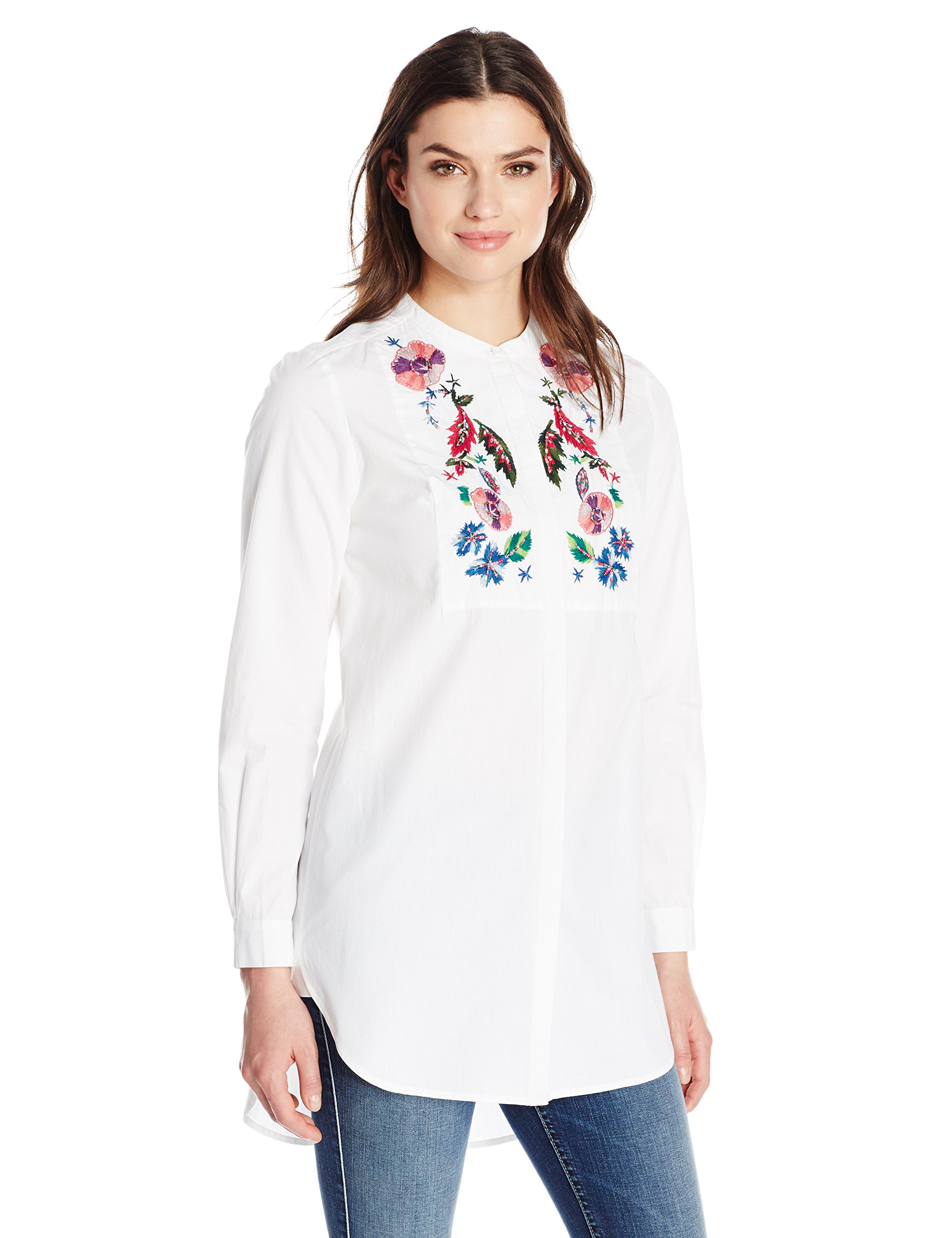 French Connection Women's Rothko Cotton Top, Summer White/Multi, 2