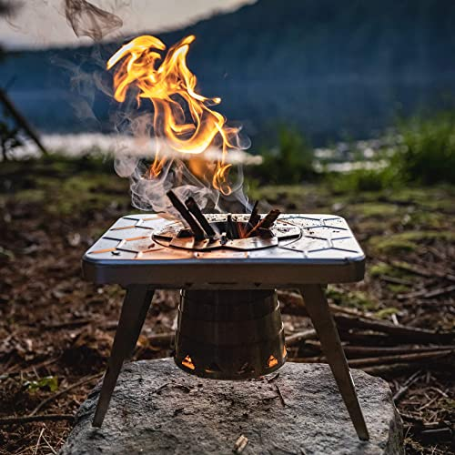 nCamp Wood Burning Camping Stove, Portable and Compact Made for Backpacking Camp Hiking Outdoor Cooking
