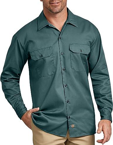 Dickies - Camisa con Manga Larga para Hombre, Color Cian ...