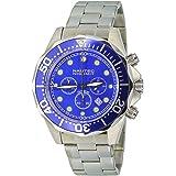 Nautec No Limit - DS-B QZ2/STSTBLBL - Montre Homme - Quartz - Chronographe - Chronomètre - Bracelet Acier Inoxydable Argent