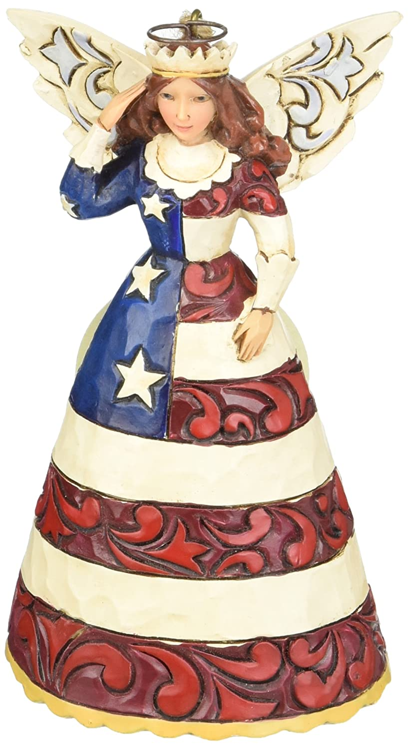 Jim Shore for Enesco Heartwood Creek Patriotic Angel Ornament